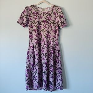 LulaRoe Amelia Dress in Purple Floral XL